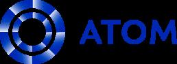 Atom Consulting Logo, Blue